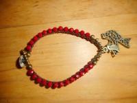 Masala Bead Bracelet (Red)