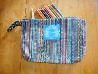 Cotton Bag (Colorful with Black/Teal Handle)